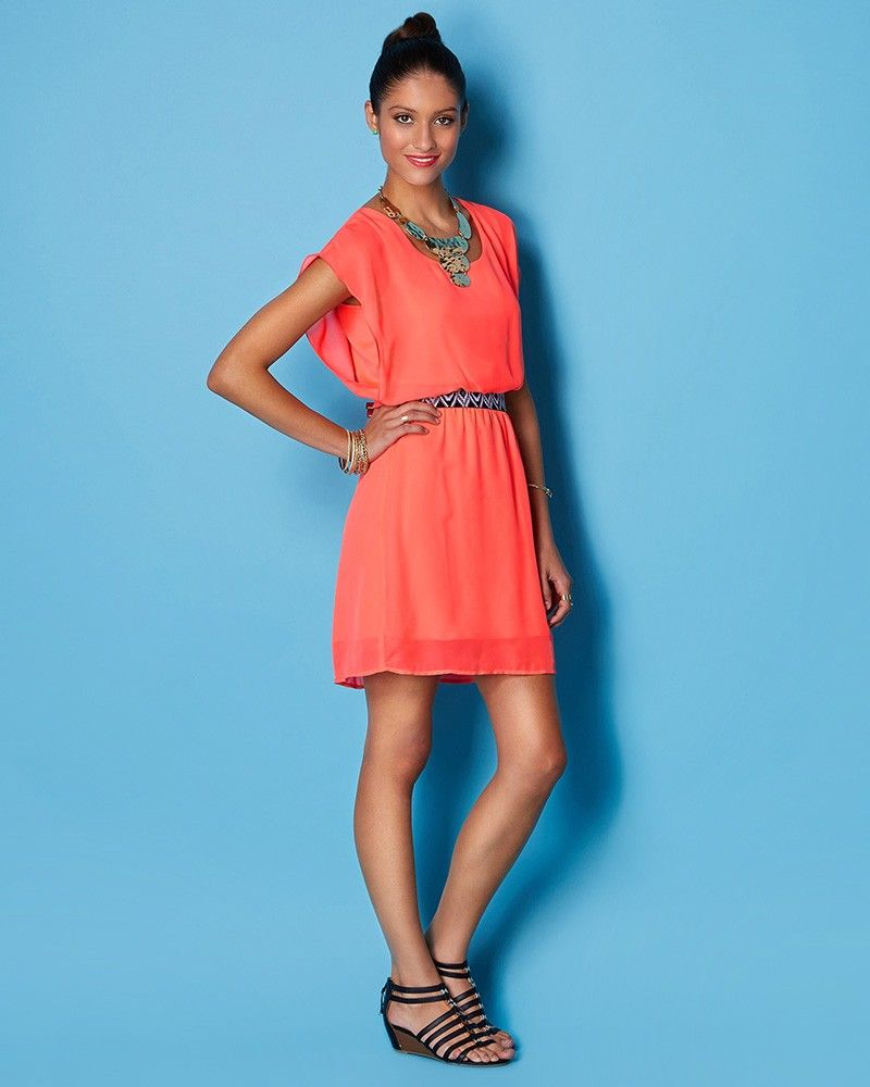 charming charlie | Katy Neon Summer Party Dress | UPC: 3000656773 ...