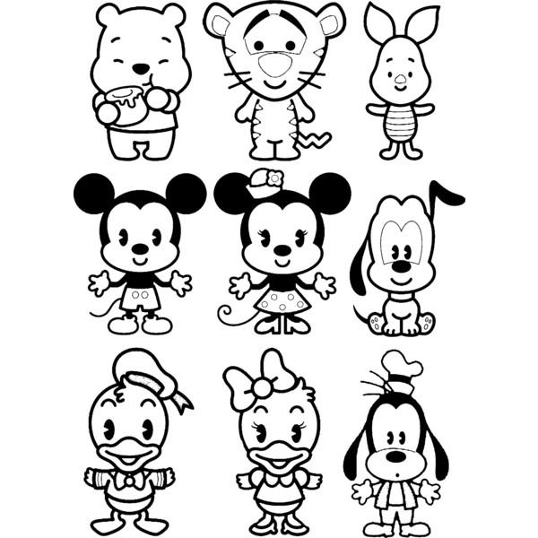 dibujos de personajes de disney faciles kawaii para ...