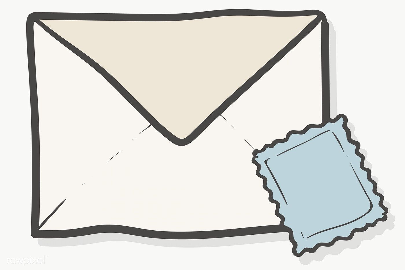 Envelope And Stamp Doodle Template Transparent Png Free Image By Rawpixel Com Chayanit Doodles Floral Doodle Paper Background Texture
