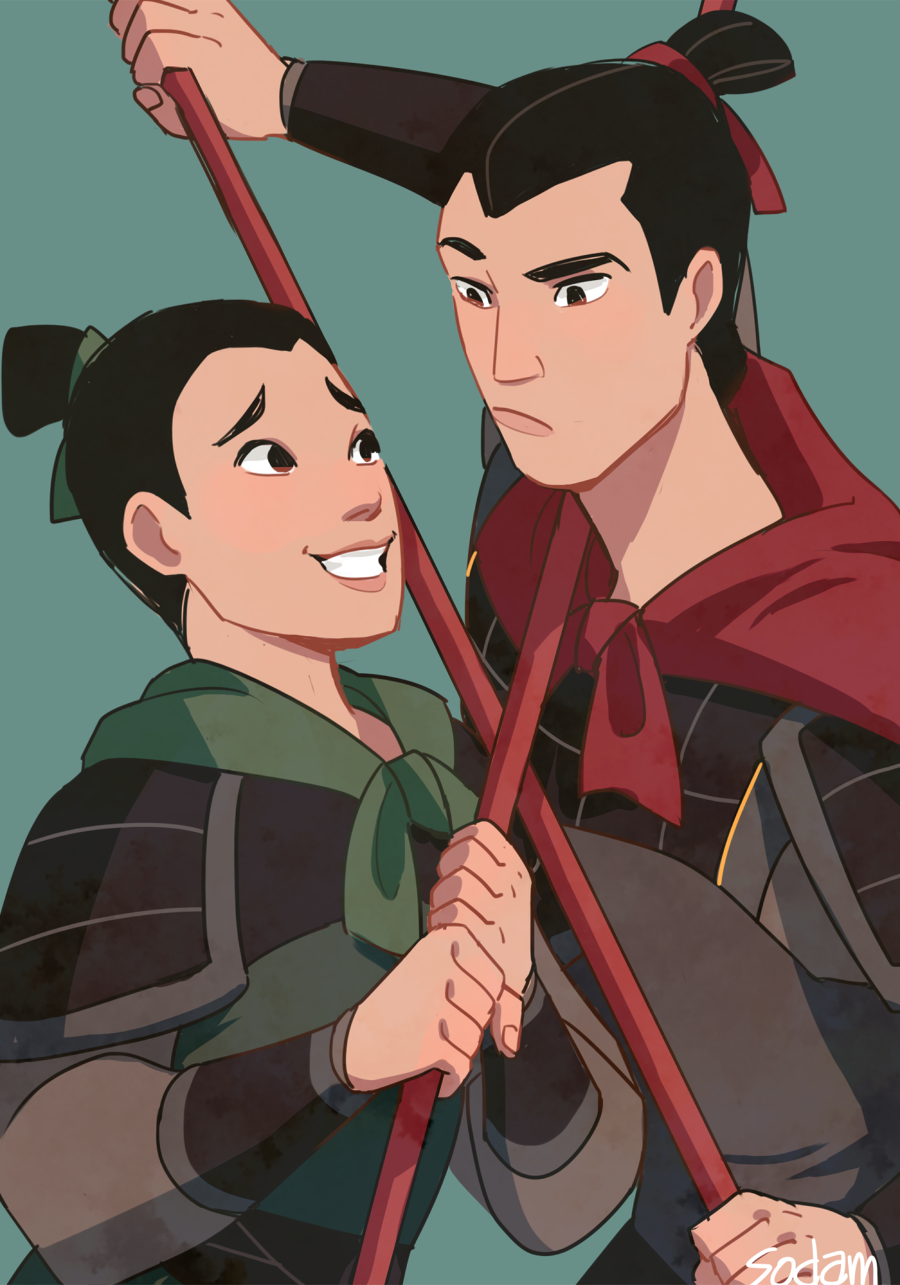 Ping And Shang Mulan Dessin Kawaii Princesse Dessins