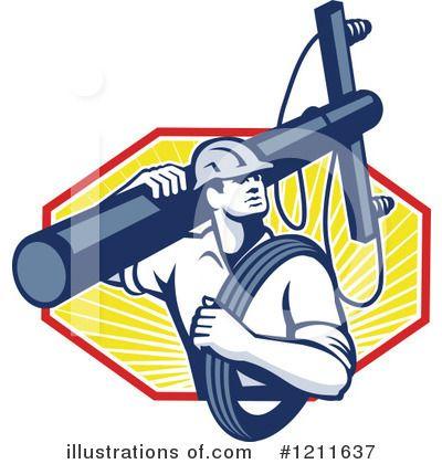 Electric Power Lineman Clipart Free Clip Art Images Power Lineman Lineman Electricity Art