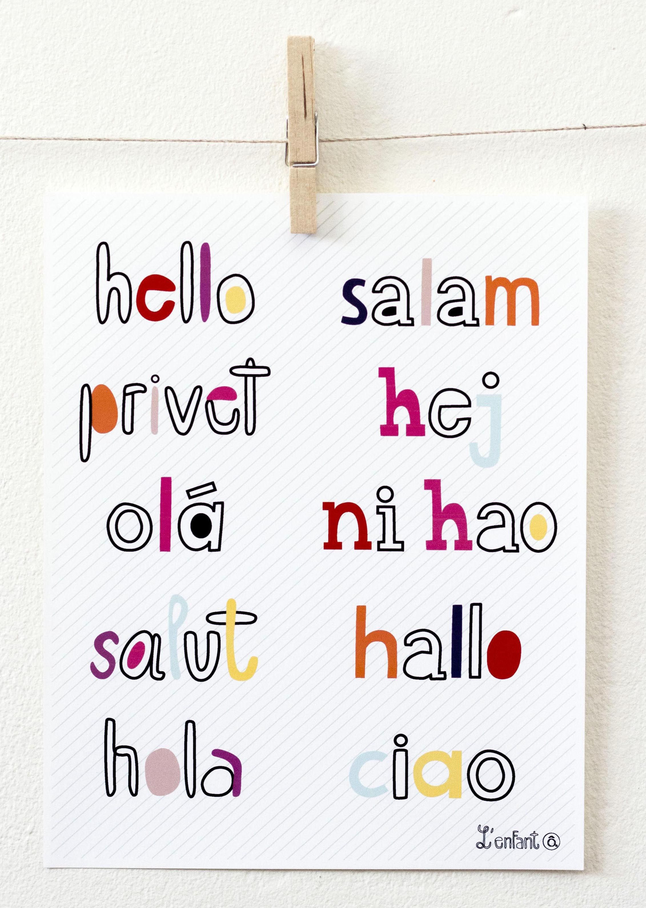 Hello In Different Languages Children S Print Available At