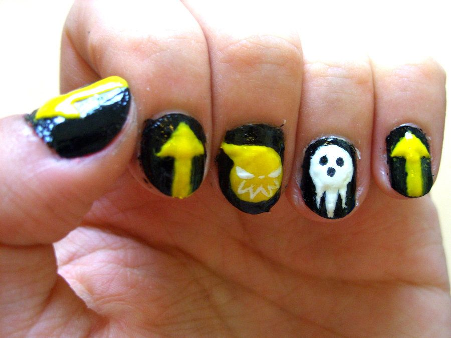 Anime nails - Pin By Above Weird On Nails~ Pinterest Soul Eater And Anime Nails