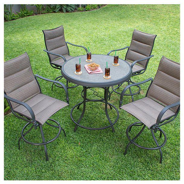 Juego para jardn incluye 4 sillas giratorias y mesa circular  Todo para tus reuniones en