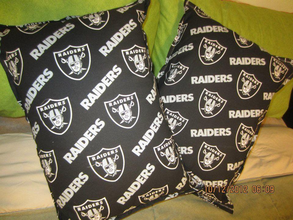 Who's a RAIDER'S Fan? Themed Throw Pillows Follow me on FB PillowTalkbyLu