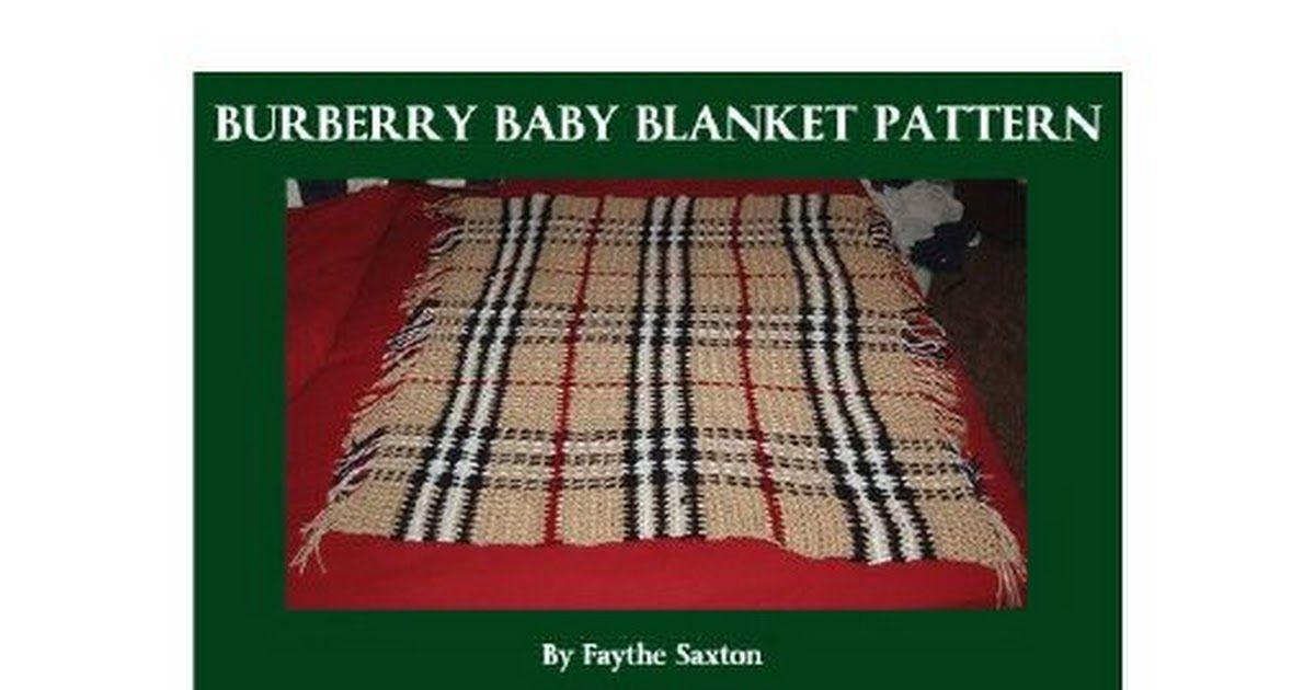 Burberry Baby Blanket Patternpdf Omslagdoeksjaal Haken Coperta