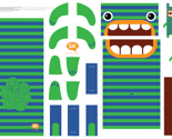 Hungry Monster Laundry Bag: Green/Blue by sammyk