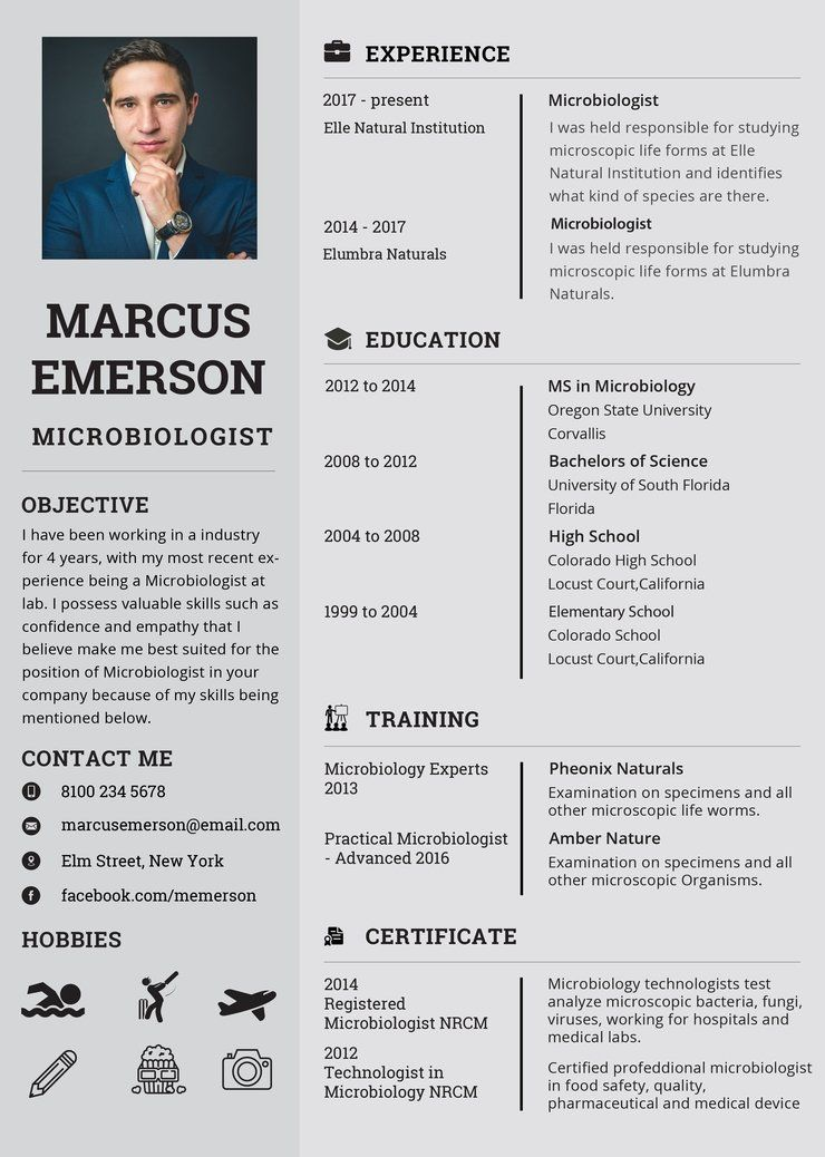 Free Microbiologist Resume CV Template in (PSD