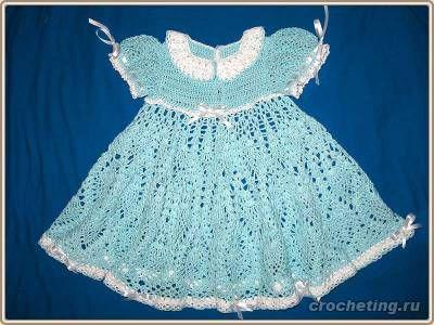 Схема платье для девочки вяжем сами