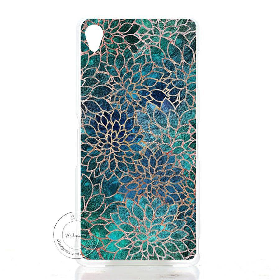 Mandala Flower Datura Floral Clear Hard Plastic Case Cover For Sony Xperia Z1 Z2 Z3 Z3+ Z4 Z5 L39H L50W