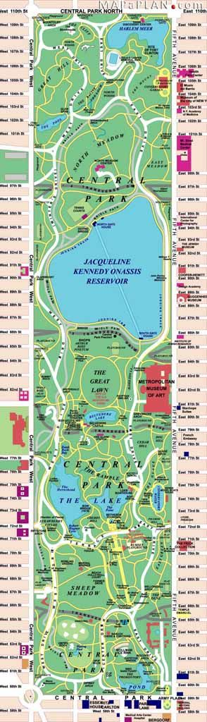 central park favourite and free destination spots new york top tourist attractions map