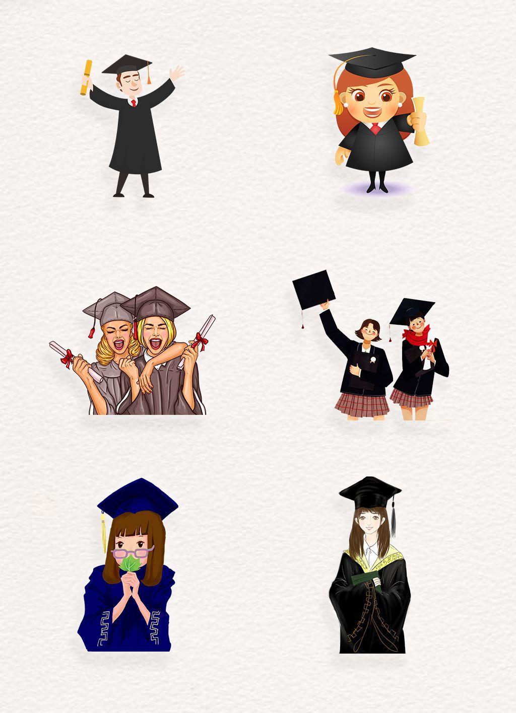 Photo of graduation vector #abschluss #abschlussfeier Cartoon graduation vector, download…