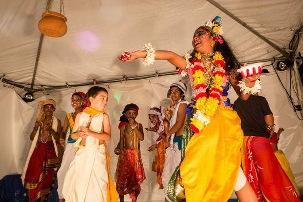 Hindus in New Orleans celebrate Janmashtami, the birth of Krishna, at the Hare Krishna Center, Sun. Aug. 17, 2014. Via NOLA.com/society