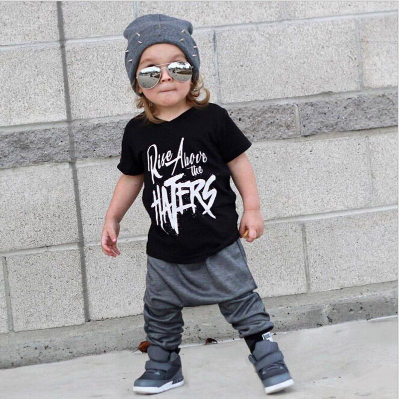 82c477a8 USA Stylish Toddler Kids Boy Short Sleeve Tops T-shirt Pants Outfits Set  Clothes 4