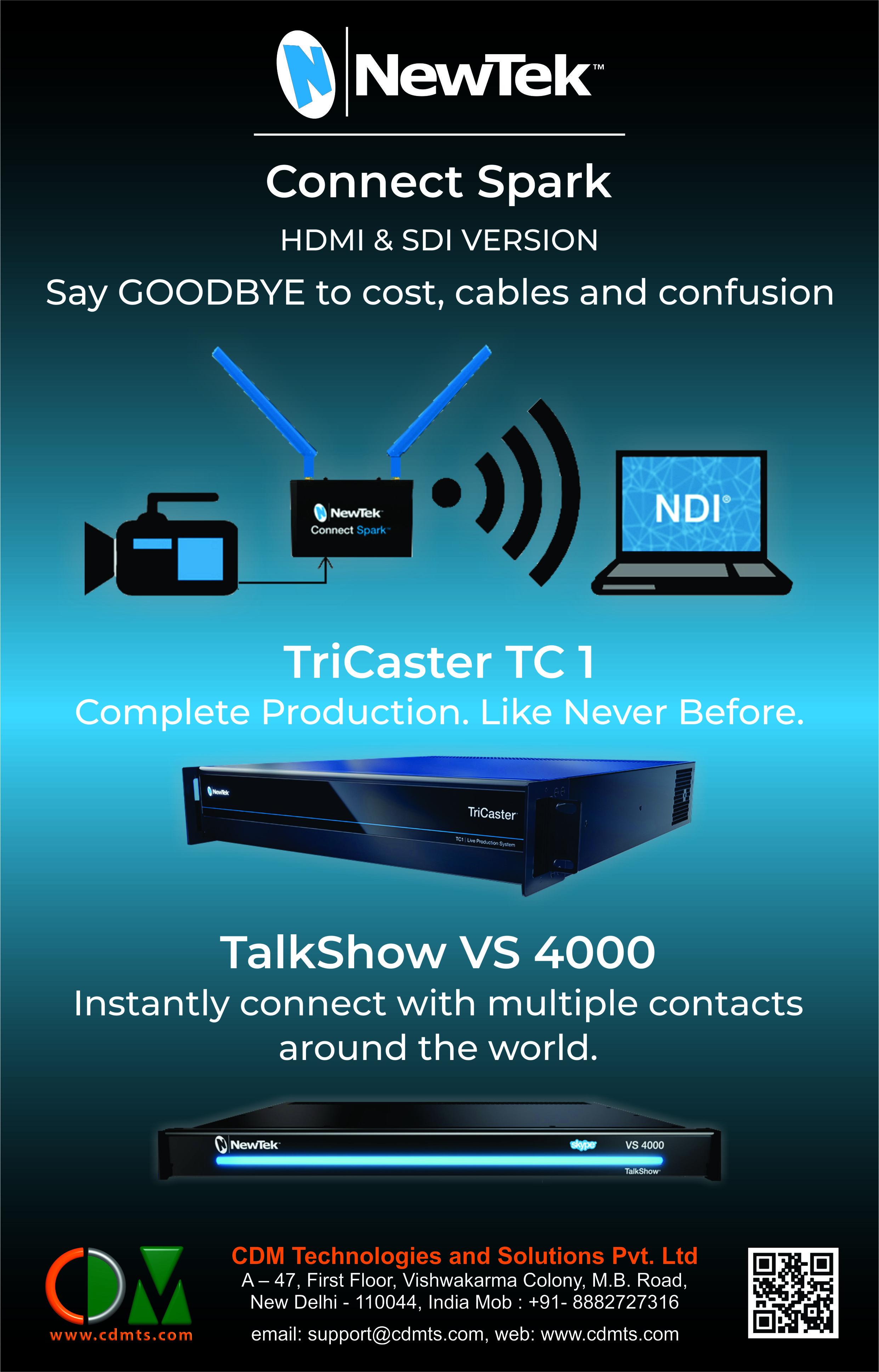 NewTek Connect Spark TriCaster TC 1 TalkShow VS 4000