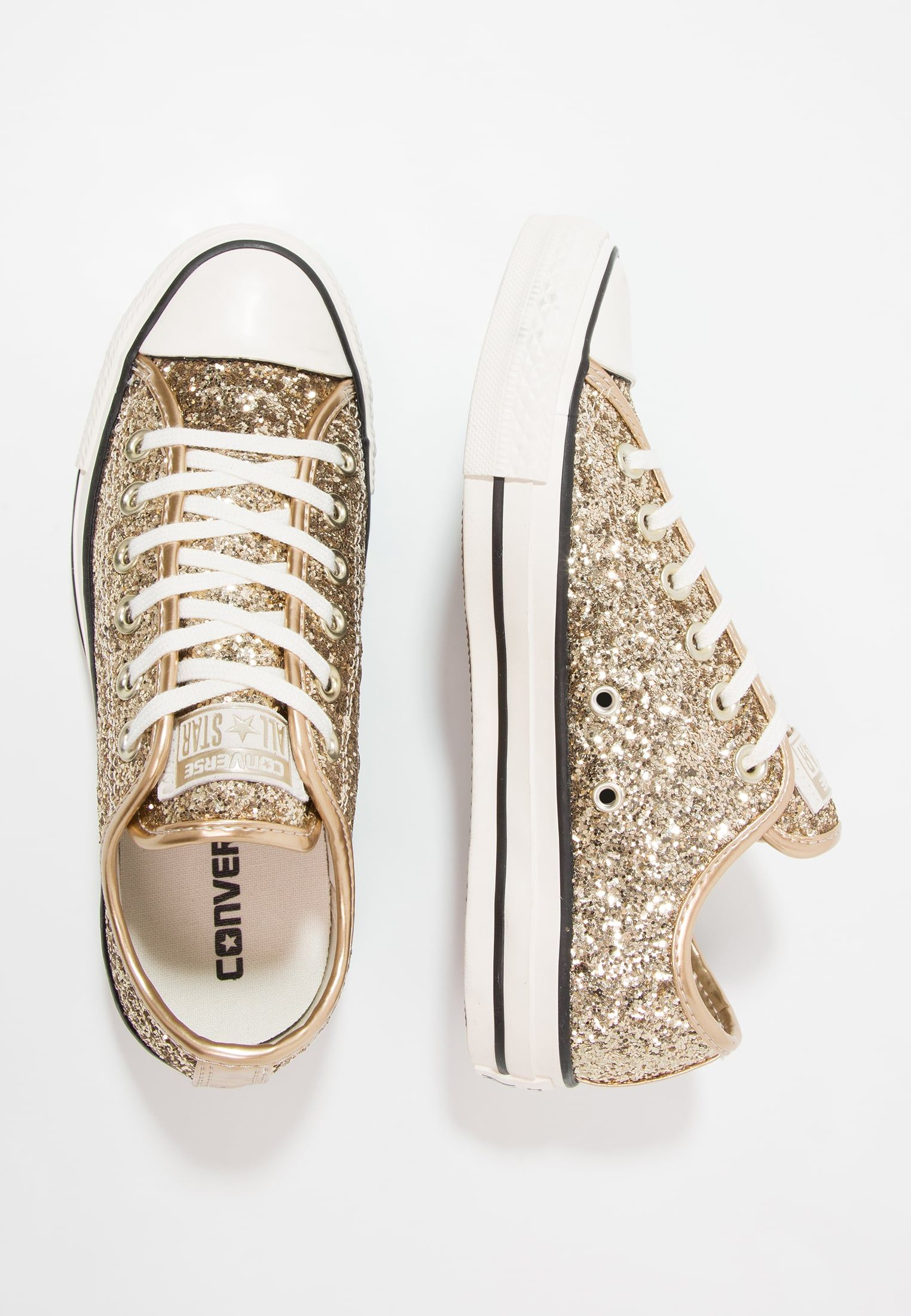 e2591bb0360e Converse CHUCK TAYLOR ALL STAR OX GLITTER - Baskets basses -  platino/black/white