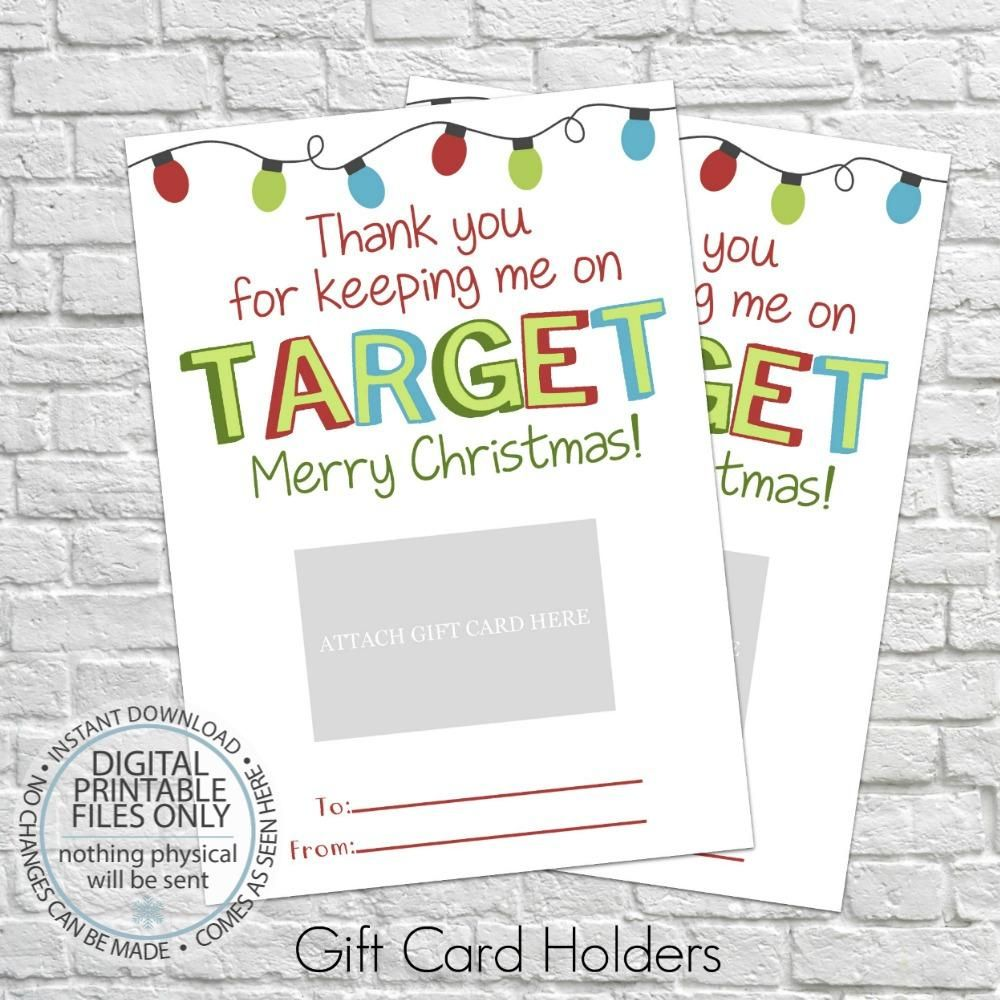 PRINTABLE Keeping Me on Target Gift Card Holder