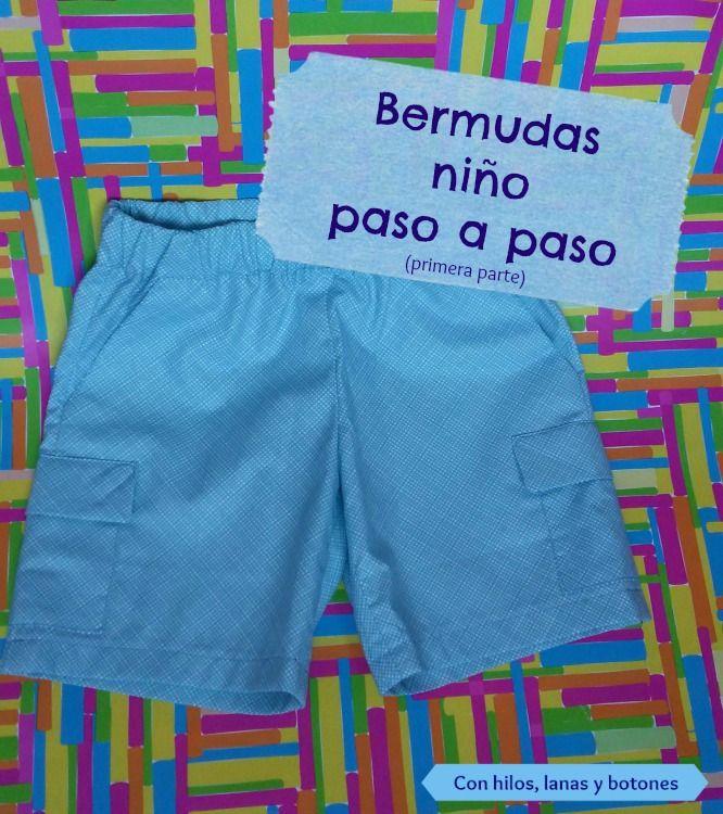 Bermudas Para Nino Paso A Paso Primera Parte Pantalones Cortos De Nino Ropa Para Ninos Varones Pantalones Para Ninos