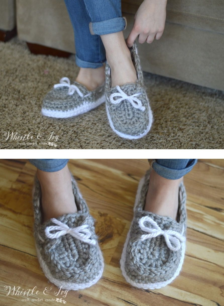 Crochet Loafer Slipper Pattern | Free pattern, Crochet and Patterns