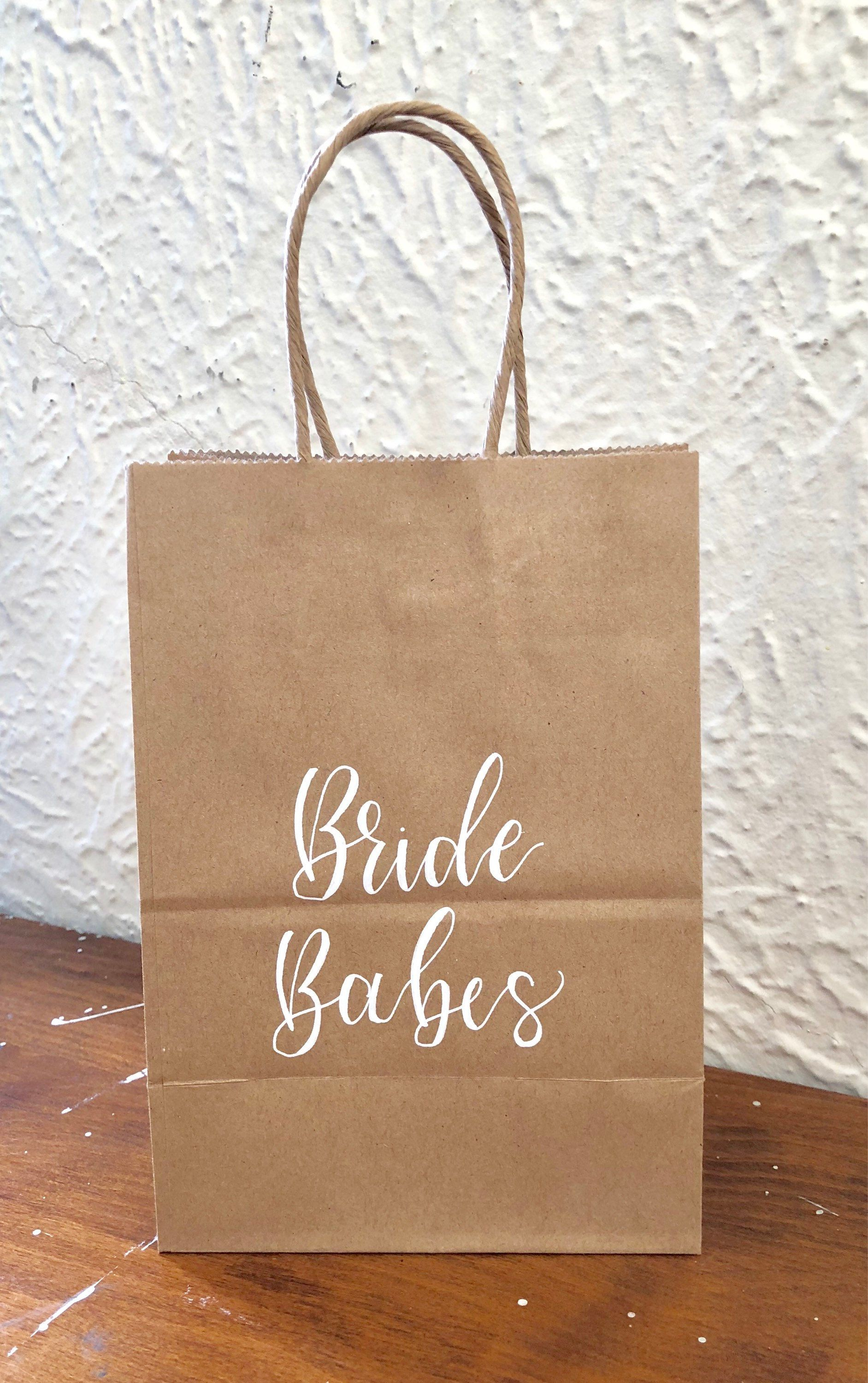Kraft Bride Babes Gift Bags Hand Letter Bags Wedding Gift Bags