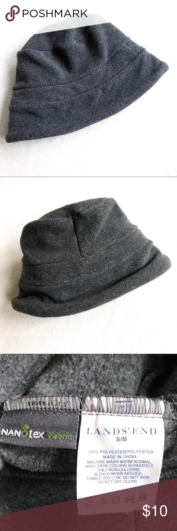 7  25⚡️Lands  End NanoTech Sherpa Fleece Hat Lands  End NanoTech Sherpa  Fleece Bucket Hat Like New Condition Cozy Charcoal Grey Sherpa Fleece Very  Warm ... 5c3fb0042a7