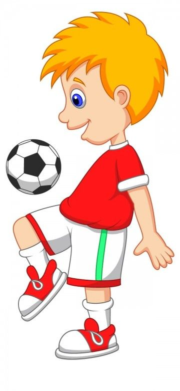 Kid Football Player Cartoon Image C Cartoon Clip Art Free Cartoon Images Kids Playing