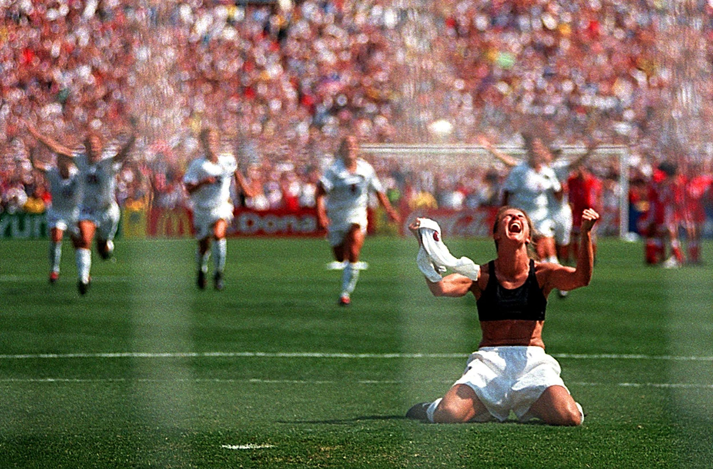 14 years ago today, July 10, Brandi Chastain took the penalty kick that won