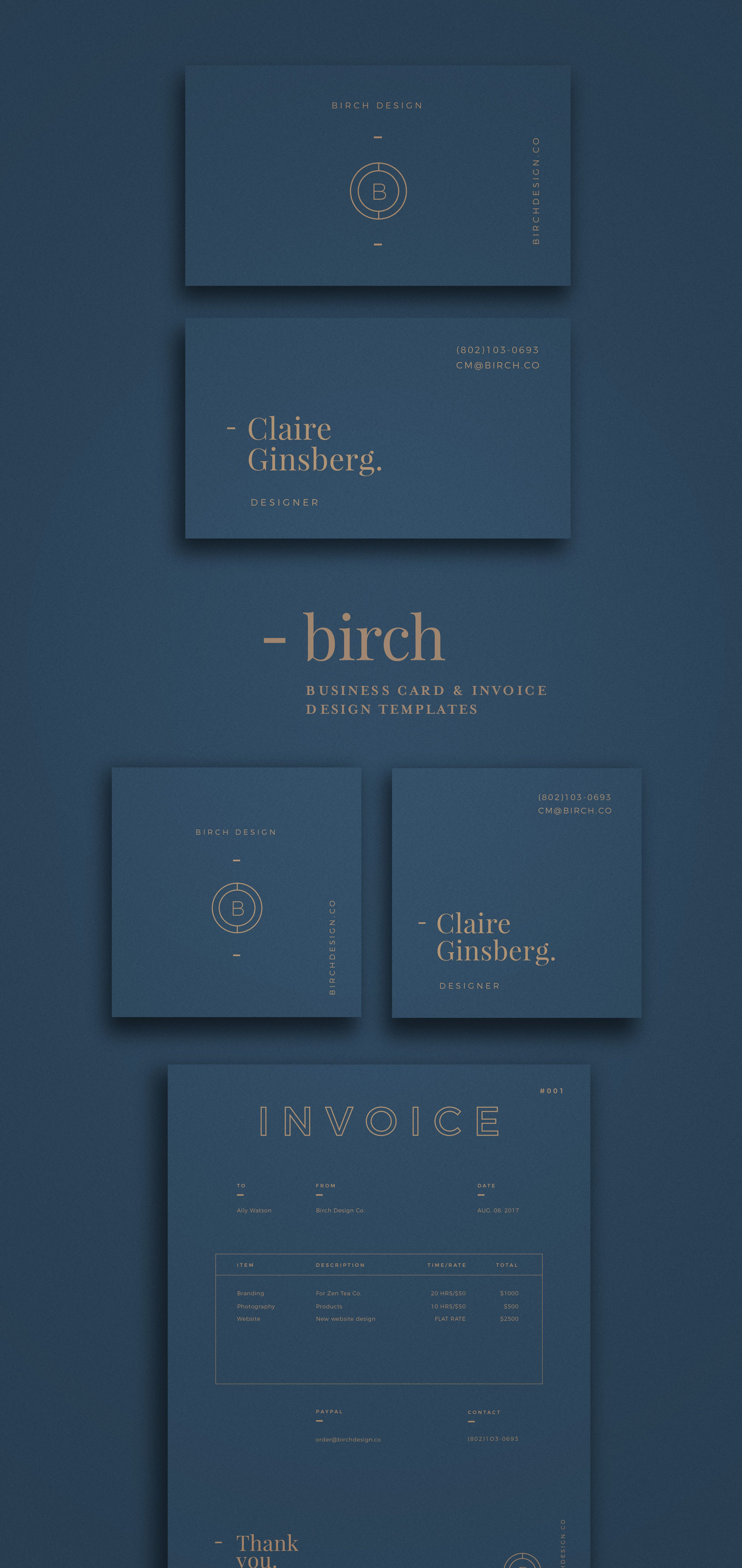 Looking for some neat business card design 1948 creative co has a 1948 creative co has a new collection birch standard business card and square business card plus invoice template organized photoshop and ai files for reheart Image collections