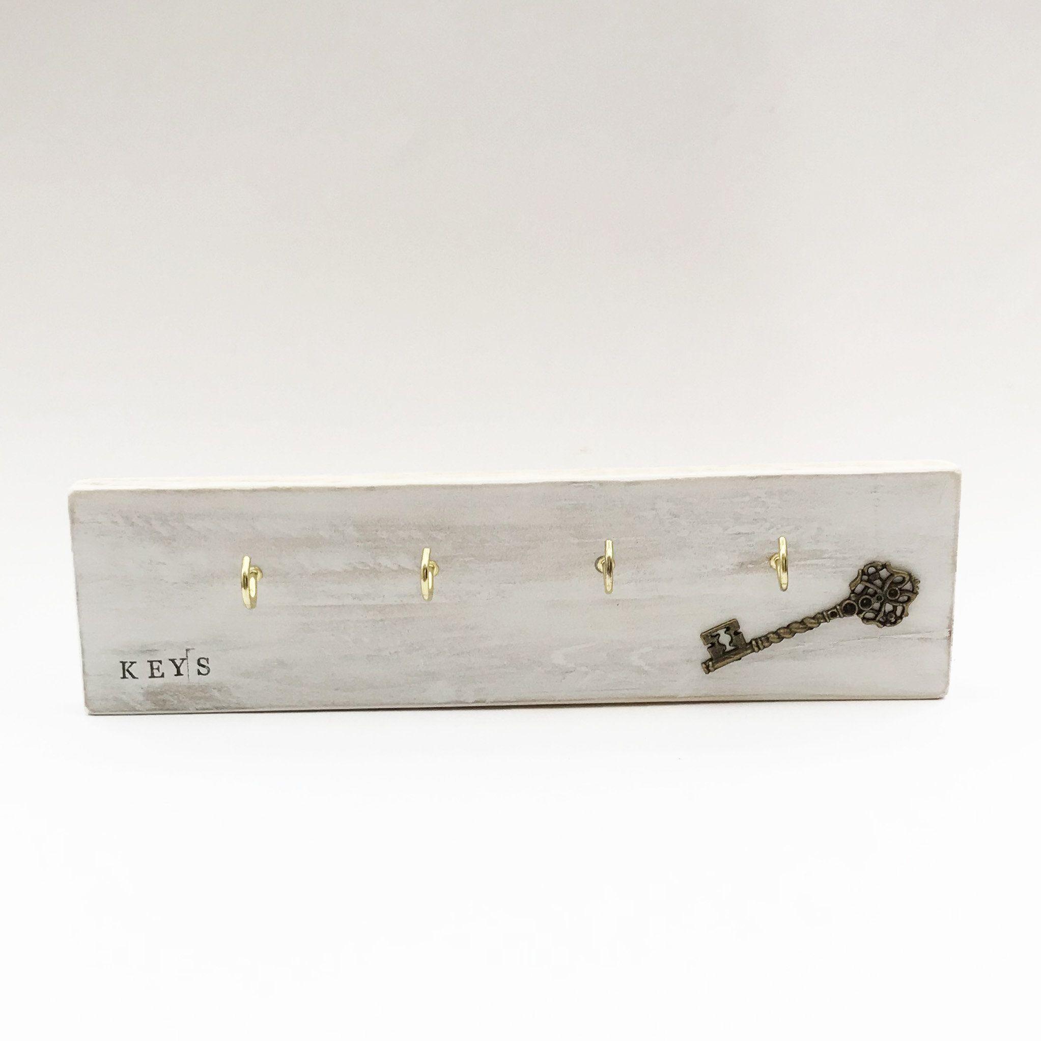 Wood Key Holder White Wall Key Holder Wood Pallets Key Storage