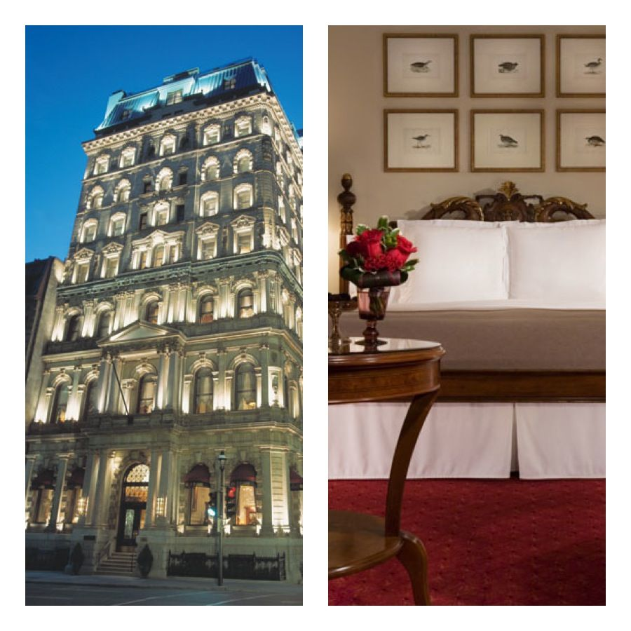 Hotel Le St. James, Montreal, Canada. Known as 'THE PLACE' for the jetset crowd as well as the famous. Uber-luxurious furnishings and sleek sexy style in a romantic hotel. #travel #montreal