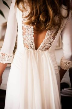 The back of this dress is gorg