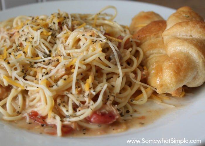 Crock Pot Spaghetti | Recipe (With images) | Cheesy chicken spaghetti,  Recipes, Chicken spaghetti