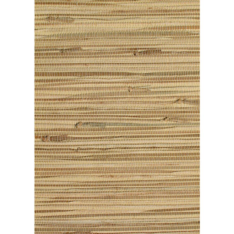 Shop allen + roth Brown Grasscloth Unpasted Wallpaper at