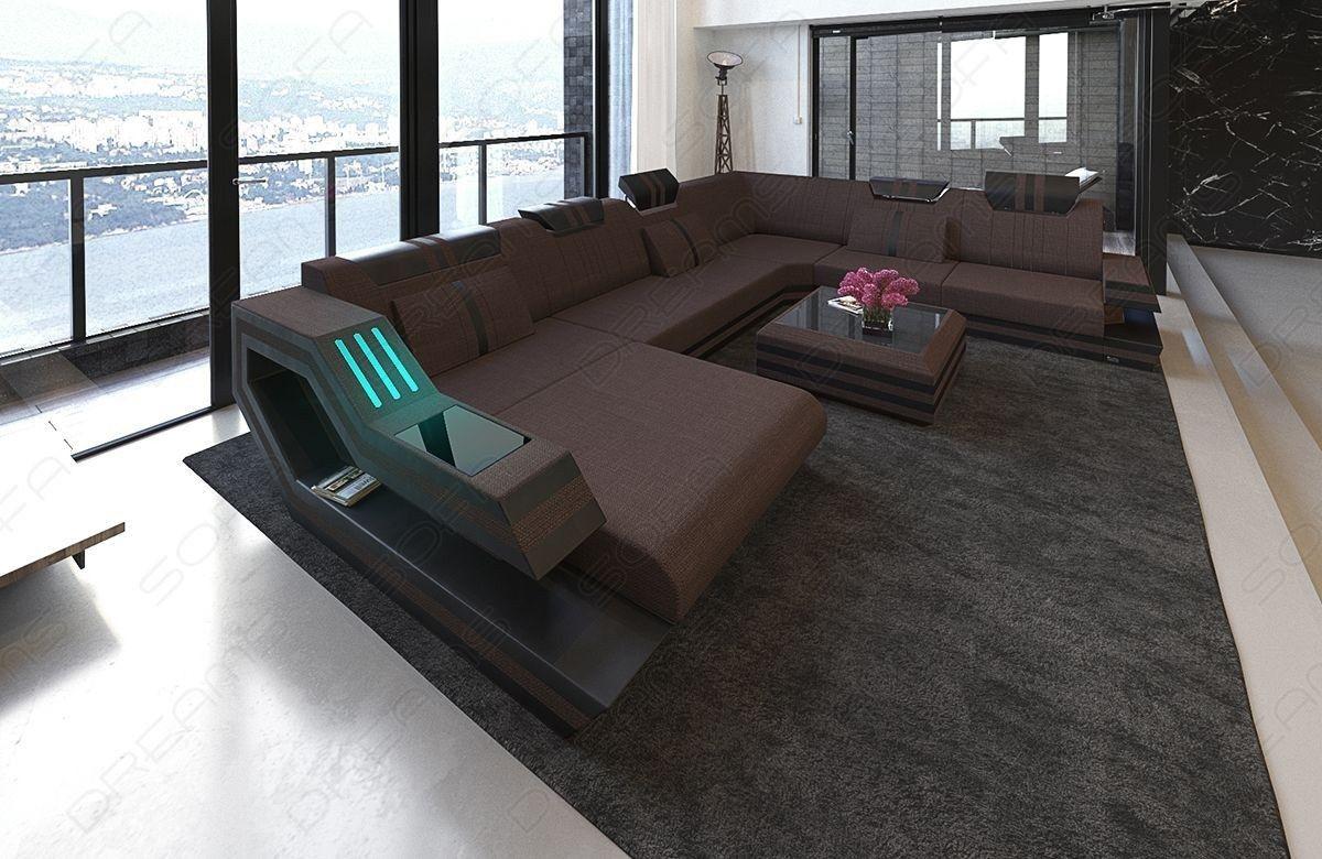 Fabric Sofa Hollywood Xl Shape Led With Usb Connection Fabric Sofa Sofa Sofa Design