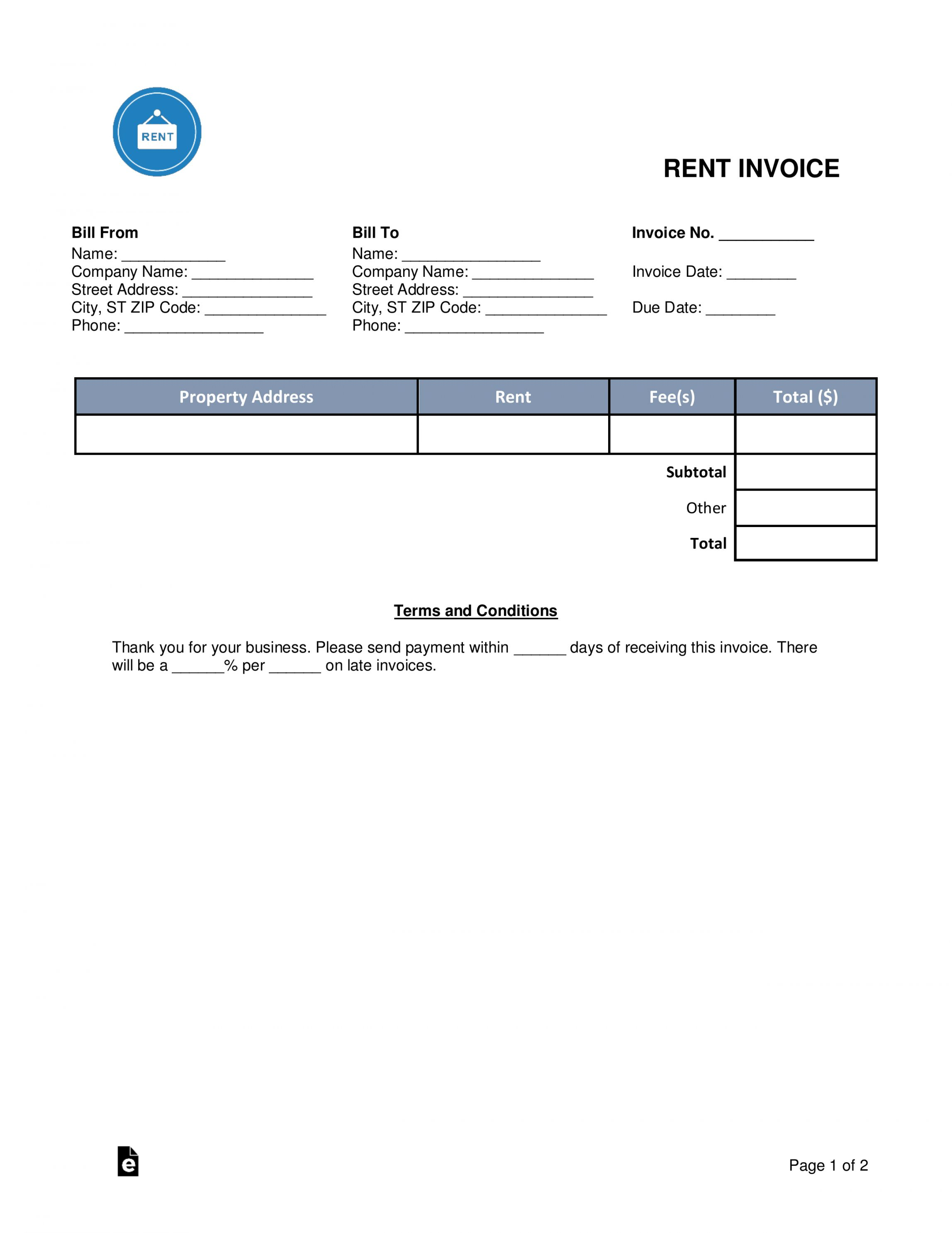 Get Our Sample Of Rent Invoice Receipt Template Invoice Template Word Receipt Template Invoice Template