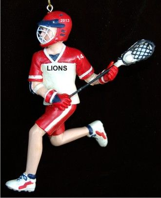 He Rocks Lacrosse! Personalized Christmas Ornament - He Rocks Lacrosse! Christmas Ornament Lacrosse Ornaments
