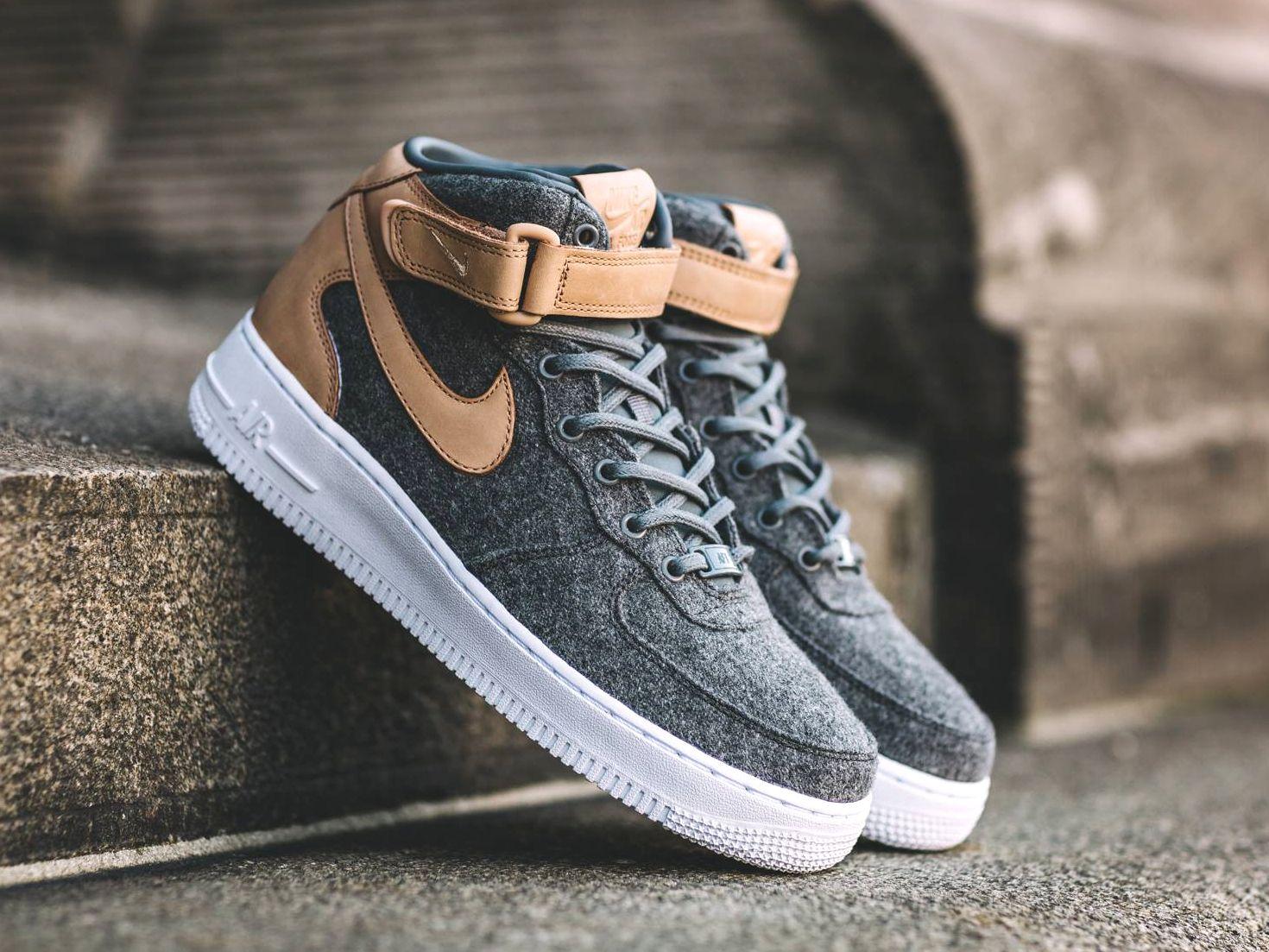 Wool 1 Oatmeal 07 Leather Mid Avis Air Nike Basket Wmns Force eBxoWrdC