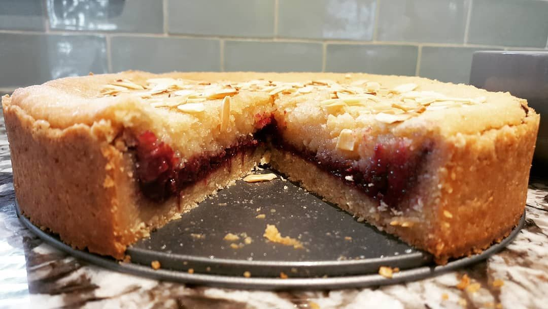 Ooh I made a Bakewell Tart! 🍒🍇 @