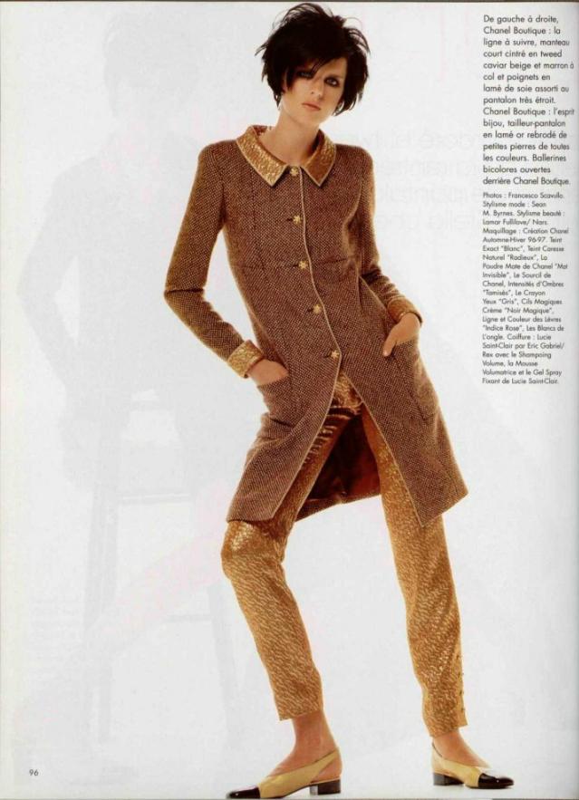 L Officiel De La Mode N 807 De 1996 Ph Francesco Scavullo Model Stella Tennant Wearing Chanel Fw 1996 Vintage Chanel Vintage Inspired Dresses Vintage Fashion