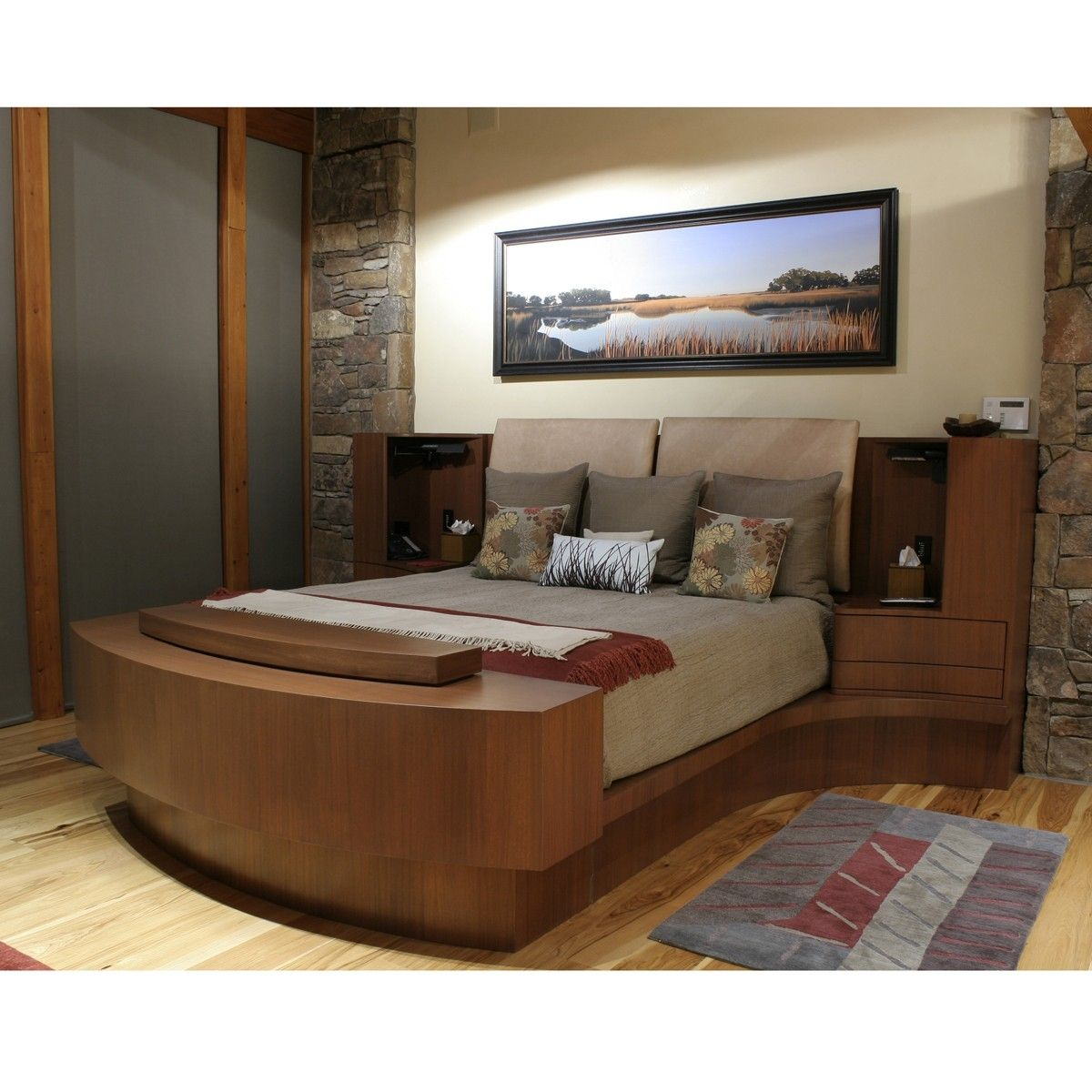 Master Bedroom With Hidden Tv I D Need A Bigger Bed Garage Curtains Design For Bedroom