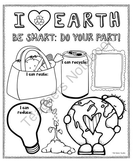 Earth Day Poster For Bulletin Boards from Pioneer Teacher