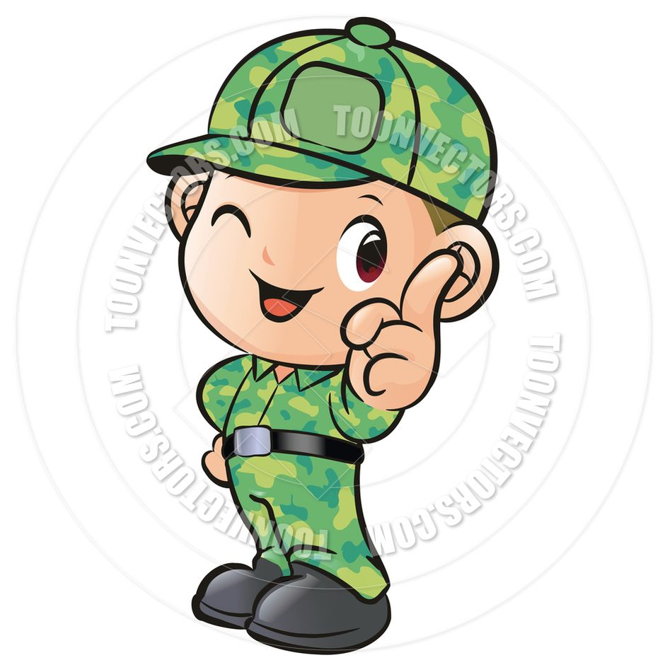 Cartoon Soldier Boy By Boians Cho Joo Young Toon Vectors ...