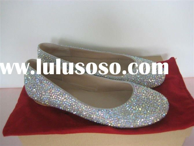 wedding shoes with bling | glamour crystals red wedding shoes ...
