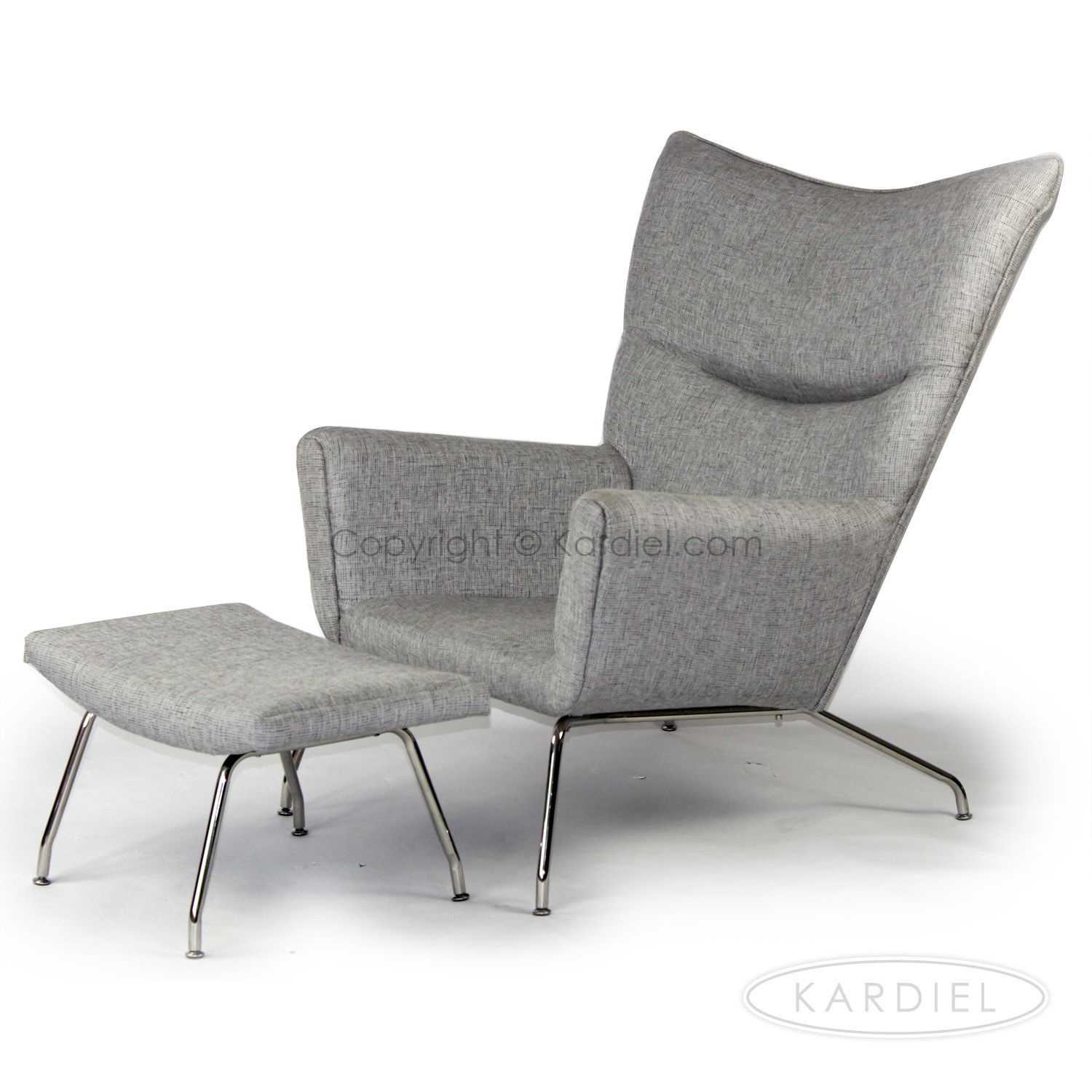 Wegner Wing Chair & Ottoman, Dacite   Ottomans and House