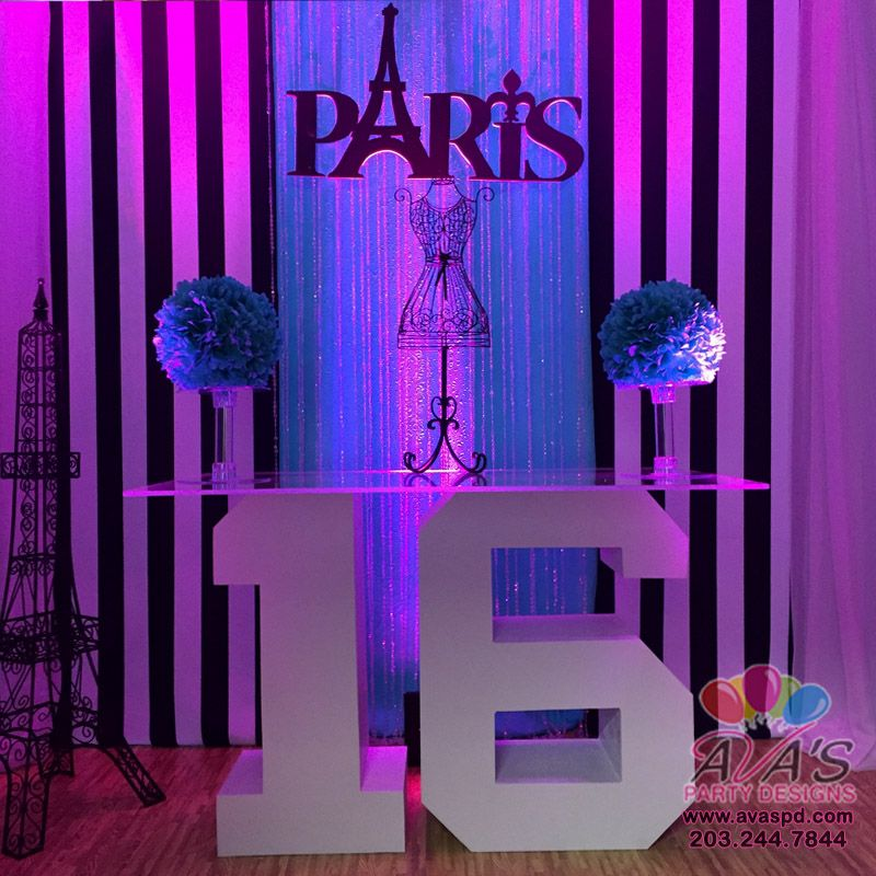 Paris Theme Sweet 16
