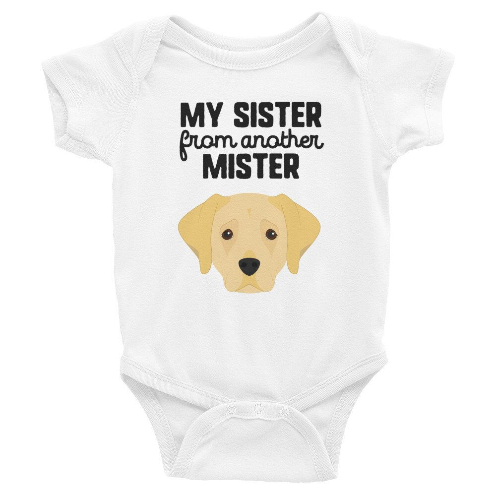 Labrador Dog Big Sister Funny Baby Clothes Cute Baby Bodysuit Dog Lover Dog Mom Gift For New Baby Expecting Mom Gift Mom To Be Gift Funny Baby Clothes Funny Baby Bodysuit