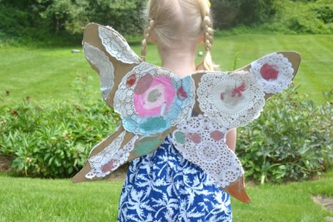 How to Make Fairy Wings - trying them on