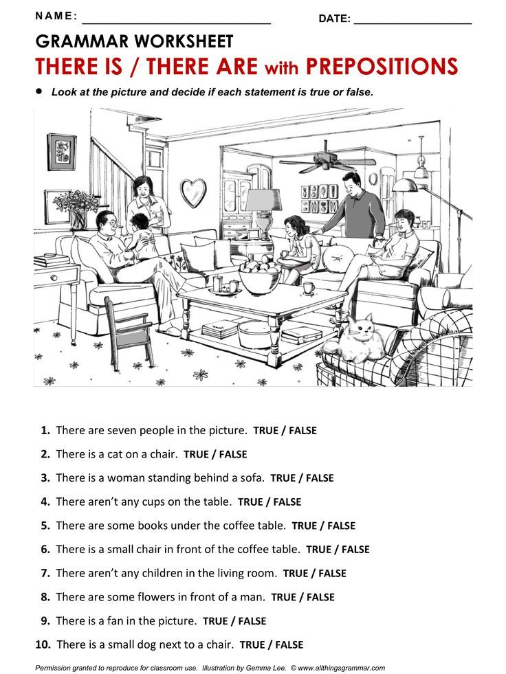 English Grammar Worksheet There Is There Are