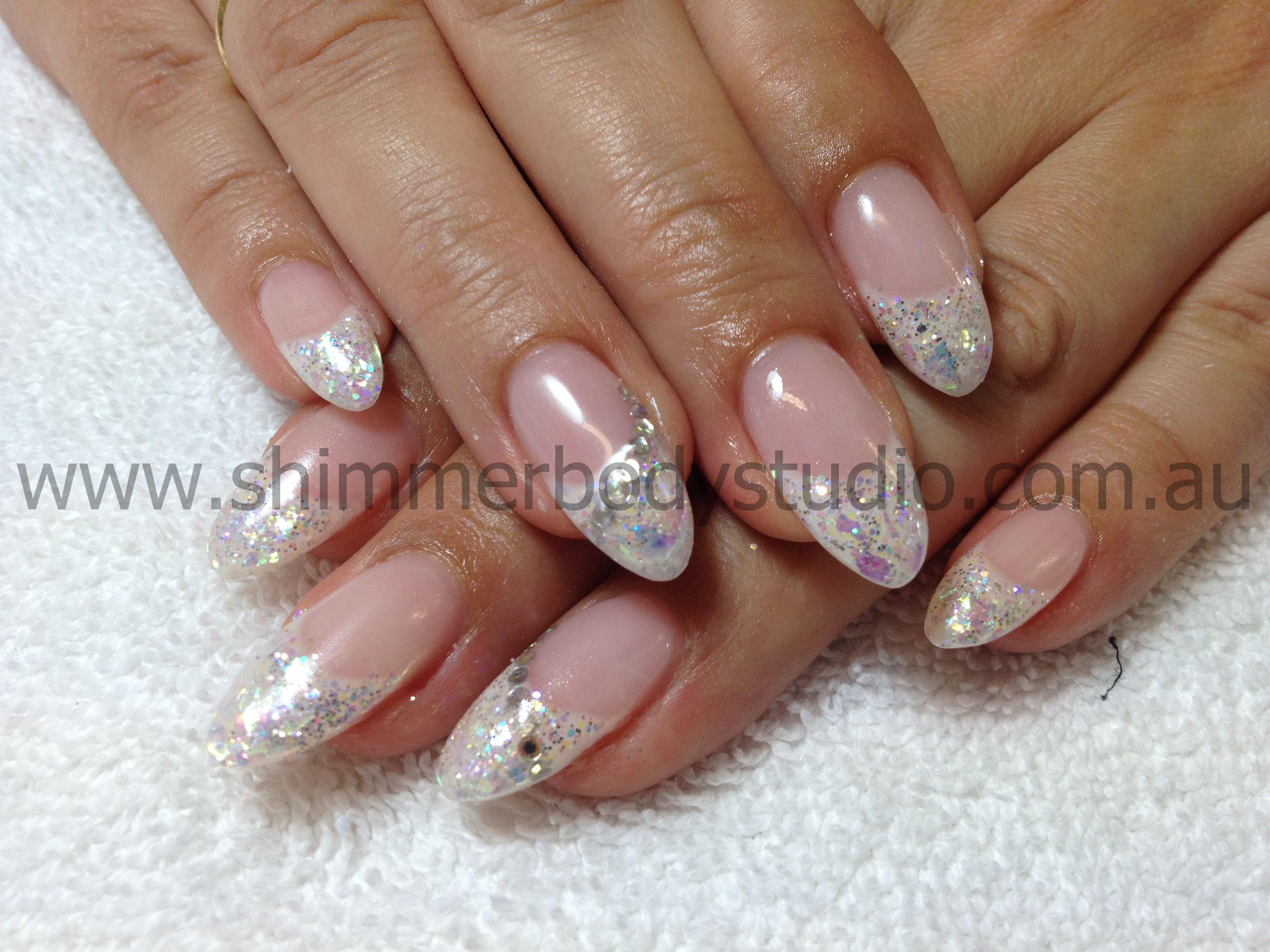 Gel Nails. French Nails. Glitter Nail Art. | Nails! | Pinterest ...