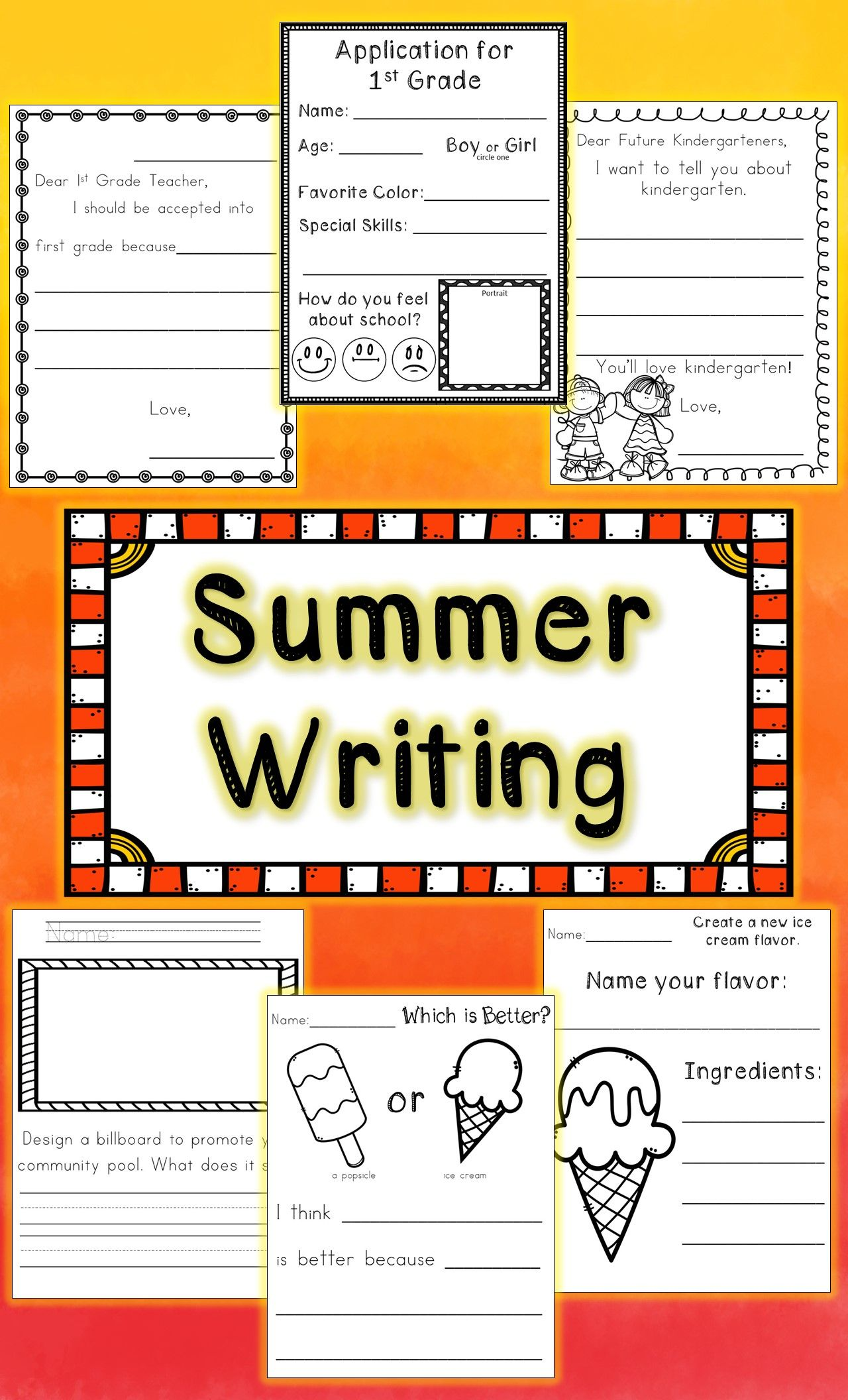 Kindergarten End Of The Year Writing No Prep Hello